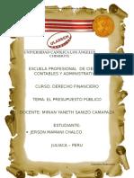 Monografia Derecho Financiero Segunda Tarea