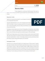 Movement in Masonry Walls