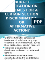 Discrimination vs Affirmitive Action