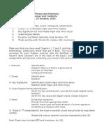 MUA 110 Midterm Exam Review Sheet F16