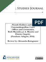 Pseudo-Kodinos and the Constantinopolitan Court