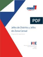 Programa de Capacitación Para Jefes de Distrito y Jefes de Zona Censal