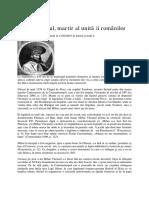 Mihai Viteazul, Martir Al Unităţii Românilor