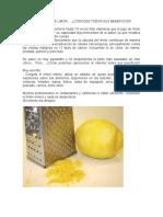 La Cáscara de Limón