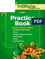 Grade 4 - Reading Triumphs Practice Book Ate