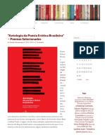 """""""Antologia Da Poesia Erótica Brasileira"""" – Poemas Selecionados _ Ateliê Editorial"""