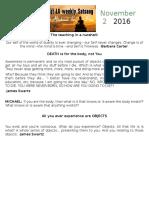 Satsang Notes 11-2-16