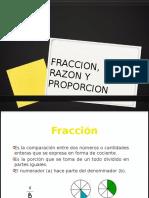 fraccion, razon y proporcion