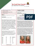 King's College Women's Soccer (PA) Newsletter Nov - Dec 2016