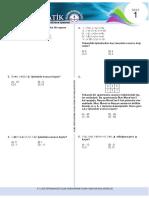 Mat Test 1 Tam Sayılar Çarpma Ve Bölme