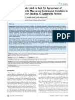 Statistical Methods Used to Test for Agreement of Medical Instruments Measuring Continuous Variables in Method Comparison Studies - A Systematic Review