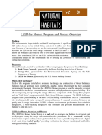 LEED for Homes Program and Process Overview