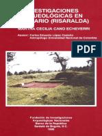 Investigaciones Arqueolgicas en Santuario Risaralda