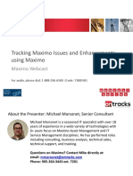 Maximo Issue Tracking Webcast
