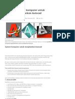 Spesifikasi Komputer Untuk Menjalankan Autocad - Drafter Autocad