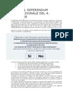 Guida al Referendum Costituzionale del 4. dicembre