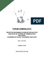 Forum Criminalistic 2 of 2008