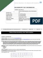Clinical Biochemistry Test Information