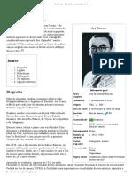 Ary Barroso – Wikipédia, A Enciclopédia Livre