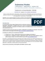 Finales (Análisis I, Análisis Matemático I, Matemática 1, Análisis II (C))