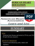 AMERICAN HEART ASSOCIATION (organization behavior) AIM