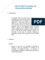 Proyecto Institucional de Educación Sexual