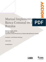 IDB-Manual Implementacion Banca Comunal