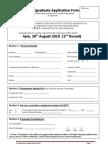 Application Form for Digital Media Post Graduate Course IADT 2010