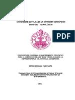 Propuesta de Programa de Mantenimiento Preventivo