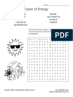 Types of Energy Word Search