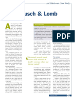 Bausch Lomb Case Study