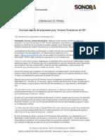 """08/10/16 Concluye registro de propuestas para """"Jóvenes Sonorenses de 100"""" -C.101629"""