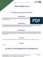 Ley de Fortalecimiento Vial
