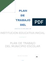 Plan de Trabajo Municipio Escolar