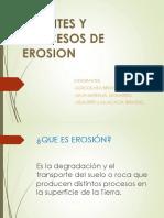 Agentes y Procesos de Erosion