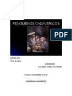 FENOMENOS CADAVERICOS