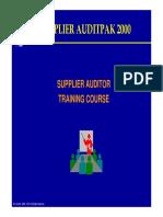 Supplier Auditpak 2000