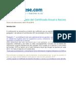 Certificado a Socios o Accionistas 2013