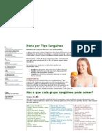 Dieta Por Tipo Sanguíneo - Santini Ortomolecular