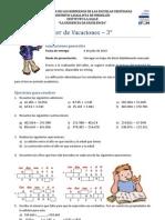 Taller de Vacaciones 3° - Matemáticas