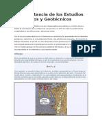 La Importancia de Los Estudios Geológicos y Geotécnicos