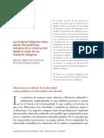Anuario 2009 Lenguas Indigenas Avateres Construccion Quinteros Corona