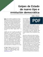 Golpes de Estado de nuevo tipo e involución democrática