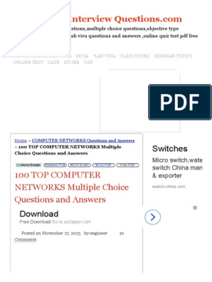 100 TOP COMPUTER NETWORKS Multiple Choice Questions and Answers