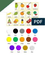 Inglés Colores y Frutas