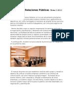 Protocolo y Relaciones Públicas (Tarea 2)