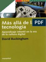 Buckingham David Mas Alla de La Tecnologia