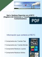 Quien Reporta Al RETC