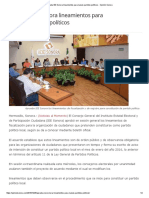 26/10/16 Aprueba IEE Sonora Lineamientos Para Nuevos Partidos Políticos - Opinión Sonora