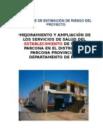 Estimacion de Riesgo Establecimiento Salud Parcona Ok